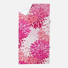 Fancy Pink Peonies Beach Towel