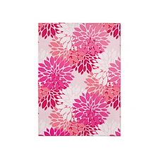 Fancy Pink Peonies 5'x7'Area Rug
