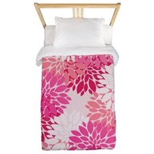 Fancy Pink Peonies Twin Duvet