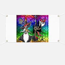 Mystical Fire Wizard Magician Rainbow Star Collag