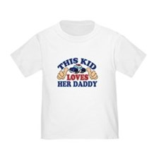 This Kid Loves Her Daddy Police T