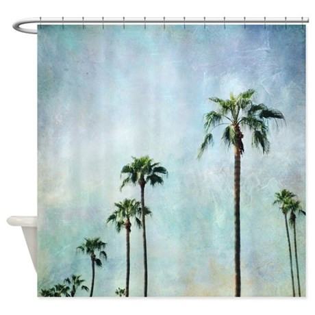 Palm Trees Shower Curtain By Sylviacookphotography