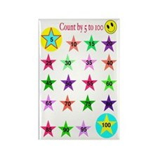 Star Counter Rectangle Magnet