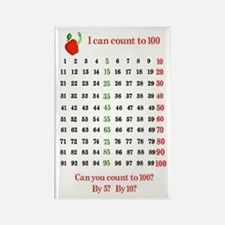Apple Counter Rectangle Magnet