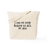 Aging jokes Bags & Totes