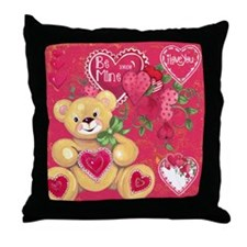 Teddy Bear Valentine Throw Pillow