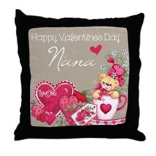 Valentines Day Nana Throw Pillow