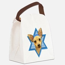 Hanukkah Star of David - Chihuahua Canvas Lunch Ba