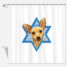 Hanukkah Star of David - Chihuahua Shower Curtain