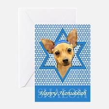 Hanukkah Star of David - Chihuahua Greeting Card