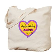 Spend My Whole Life Through-Elvis Presley Tote Bag