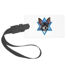 Hanukkah Star of David - Chihuahua Luggage Tag
