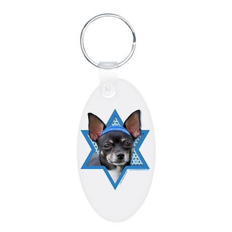 Hanukkah Star of David - Chihuahua Aluminum Oval K