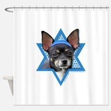 Hanukkah Star of David - Chihuahua Shower Curtain