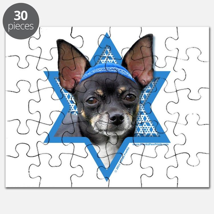 Hanukkah Star of David - Chihuahua Puzzle