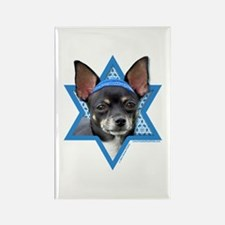 Hanukkah Star of David - Chihuahua Rectangle Magne