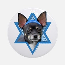 Hanukkah Star of David - Chihuahua Ornament (Round
