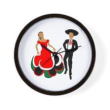 Mexican Dancers Wall Clock