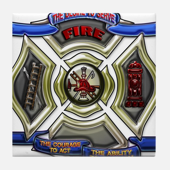 Cute Fire rescue Tile Coaster
