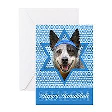 Hanukkah Star of David - Cattle Dog Greeting Card