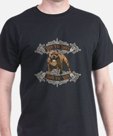 Live to Love Pit Bull Dog T-Shirt