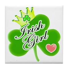 Irish Girl St. Patrick's Day Tile Coaster