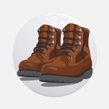 Hiking Boots Ornament (Round)
