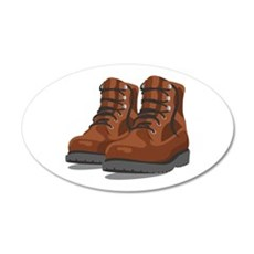 Hiking Boots Wall Decal