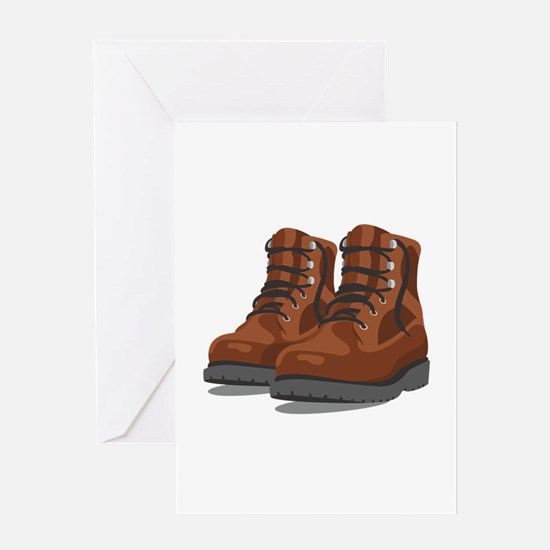 Hiking Boots Greeting Cards