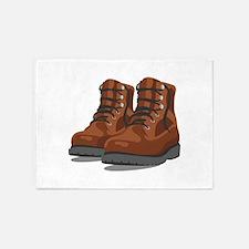 Hiking Boots 5'x7'Area Rug