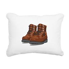 Hiking Boots Rectangular Canvas Pillow