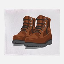 Hiking Boots Throw Blanket