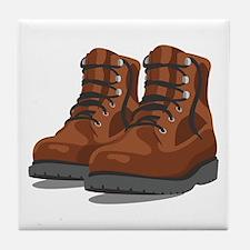 Hiking Boots Tile Coaster