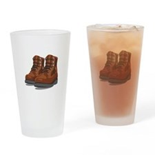 Hiking Boots Drinking Glass