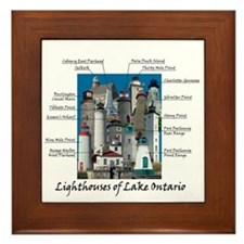 Lighhtouses Of Lake Ontario Framed Tile