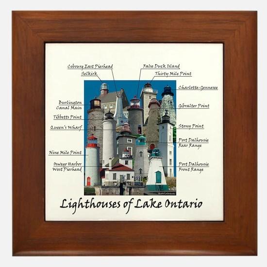 Lighhtouses Of Lake Ontario Framed Tile