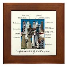 Lighthouses Of Lake Erie Framed Tile