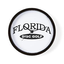 Florida Disc golf Wall Clock