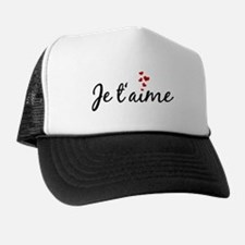 Je taime, I love you, French word art Trucker Hat