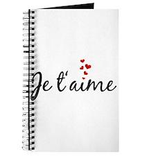 Je taime, I love you, French word art Journal