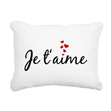 Je taime, I love you, French word art Rectangular