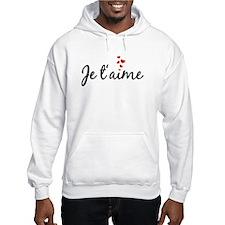 Je taime, I love you, French word art Hoodie