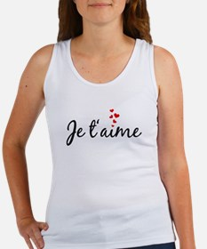 Je taime, I love you, French word art Tank Top