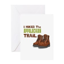 I Hiked the Appalachian Trail Greeting Cards