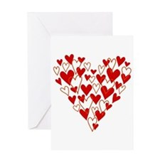 Hand drawn scribble heart Greeting Cards