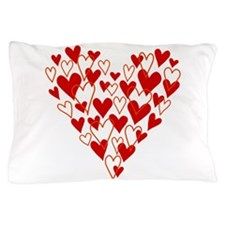 Hand drawn scribble heart Pillow Case