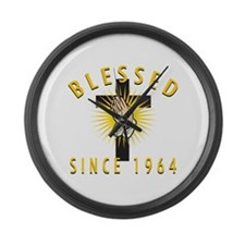 Blessed Since 1964 Large Wall Clock