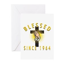 Blessed Since 1964 Greeting Cards (Pk of 10)