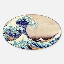 Great Wave Off Kanagawa Sticker (Oval)