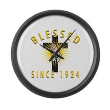 Blessed Since 1934 Large Wall Clock